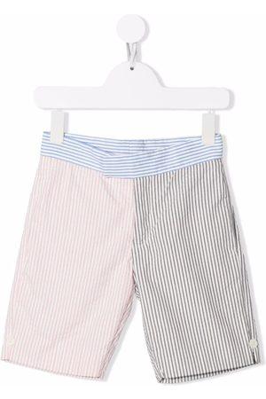 Thom Browne Niño Bermudas - Shorts de tejido seersucker