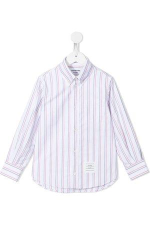Thom Browne Camisa oxford con motivo de rayas