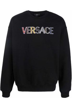 Versace Hombre Sudaderas - Sudadera con logo bordado