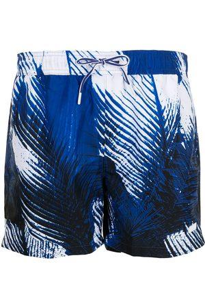 HUGO BOSS Shorts de playa con estampado de plumas