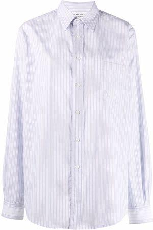 Maison Margiela Mujer Camisas - Camisa con cuello de pico