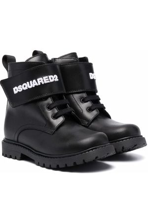 Dsquared2 Niño Botines - Logo-strap lace-up ankle boots