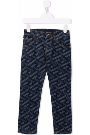 Versace Kids Niño Jeans - Skinny jeans con logo estampado