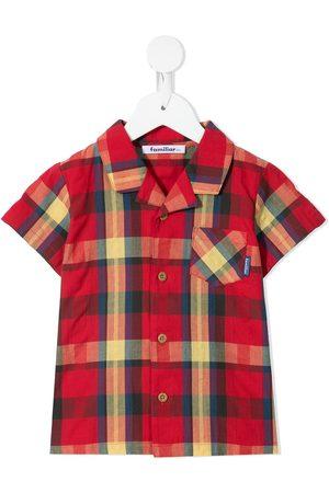 Familiar Niño Camisas - Camisa con estampado de cuadros