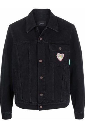 PACCBET Heart-embroidered denim jacket