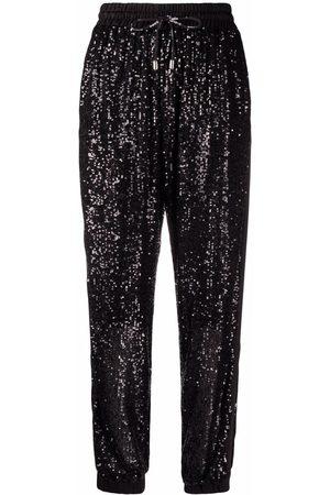 Pinko Pants bordados con lentejuelas