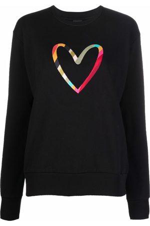 Paul Smith Embroidered-heart organic-cotton sweatshirt