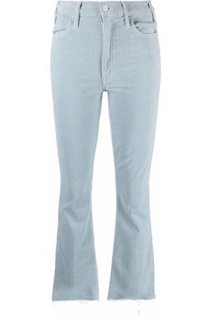 Mother Cropped velvet trousers