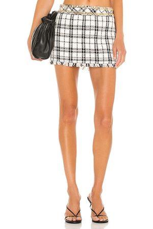 NBD Minifalda franca en color blanco talla L en - White. Talla L (también en XS, S, M, XL).