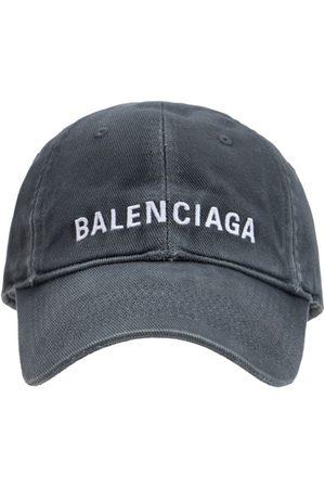 BALENCIAGA Hombre Gorras - Gorra De Algodón Con Logo
