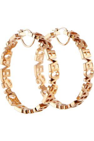 VERSACE Mujer Aretes - Logo hoop earrings