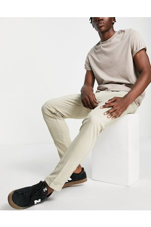 jack & jones Hombre Chinos - Intelligence slim fit stretch trousers with pleats in with organic cotton