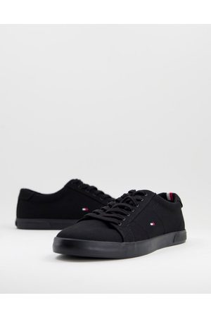 Tommy Hilfiger Harlow canvas trainers in black