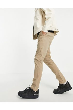 Selected Homme Skinny fit stretch chinos in sand with organic cotton