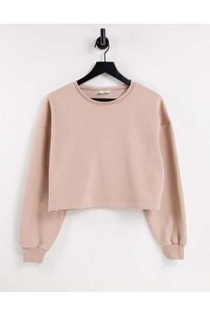 Chelsea Peers Organic cotton cropped sweat with raw edge detail in