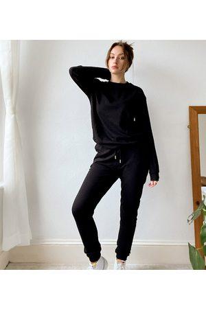 ASOS Tall ASOS DESIGN Tall tracksuit slim sweat / jogger in black