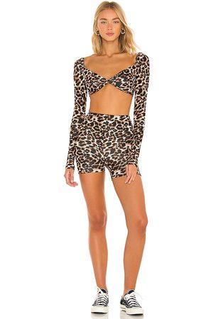 superdown Mujer Shorts - Jillian leopard set en color marrón talla L en - Brown. Talla L (también en M, S, XL, XS, XXS).