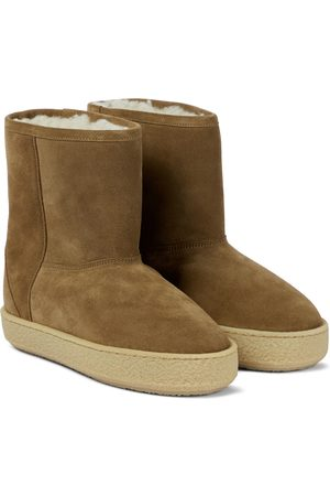 Isabel Marant Frieze shearling-lined suede ankle boots