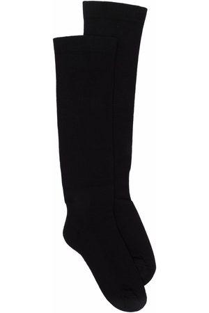Rick Owens Calcetines tejidos con logo en intarsia