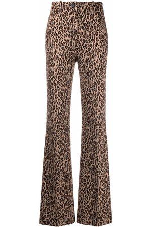 Pinko Pantalones acampanados con estampado de leopardo