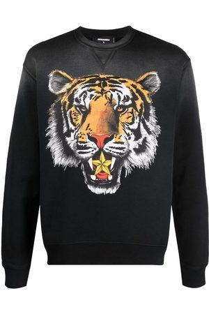 Dsquared2 Sudadera con estampado de tigre