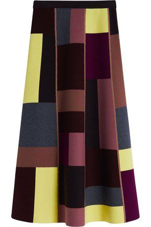 Victoria Victoria Beckham Falda larga con diseño color block