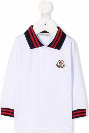 Moncler Polos - Logo-patch cotton polo top