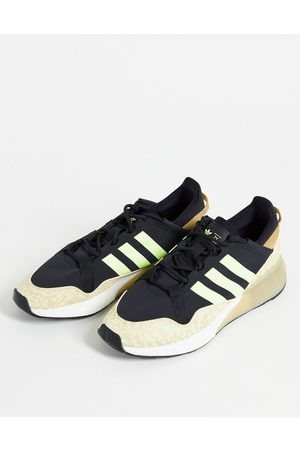 adidas Originals ZX 2K Boost trainers with camo print in black