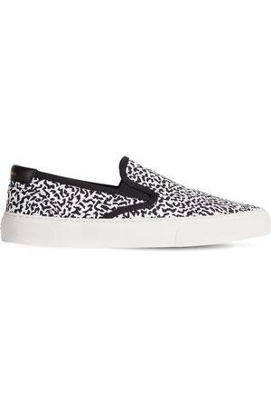 SAINT LAURENT Sneakers Slip-on Venice De Lona De Algodón