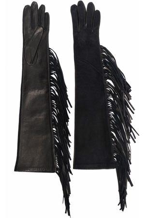 Manokhi Tassel-trim leather gloves