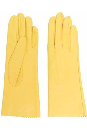 Manokhi Zig-zag edge leather gloves