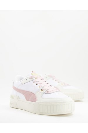 Puma Cali Sport trainers in white and pink