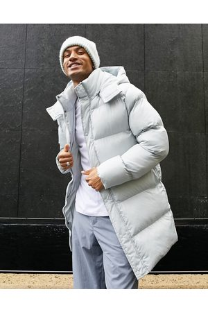 ASOS Recycled longline puffer jacket in grey