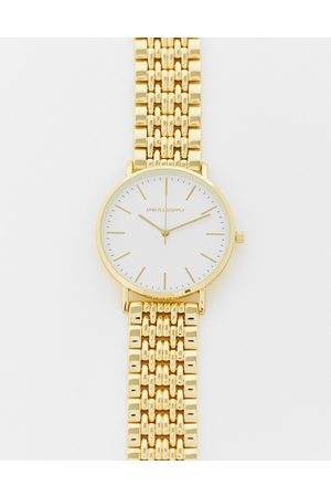 ASOS Bracelet watch with gold face in gold tone
