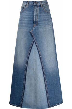 Maison Margiela Mujer De mezclilla - Falda de mezclilla con diseño de dos tonos