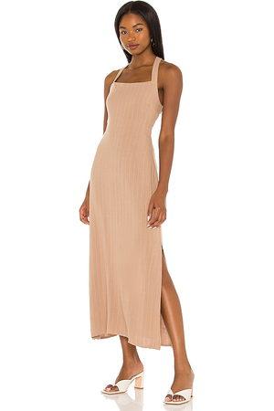LINE & DOT Delilah cross body back dress en color marrón talla L en - Brown. Talla L (también en XS, S, M).