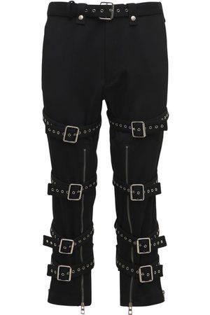 Loewe Pantalones Cropped De Gabardina De Lana