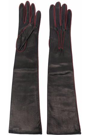 Manokhi Stitch-detail leather gloves