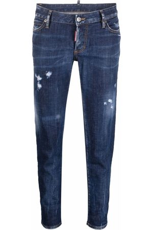 Dsquared2 Mujer Skinny - Ripped detail cropped jeans