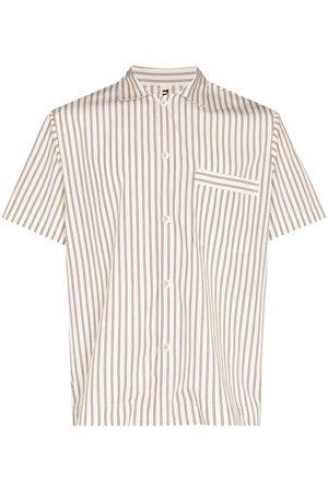 Tekla Hombre Pijamas - Camisa de pijama con estampado de rayas verticales