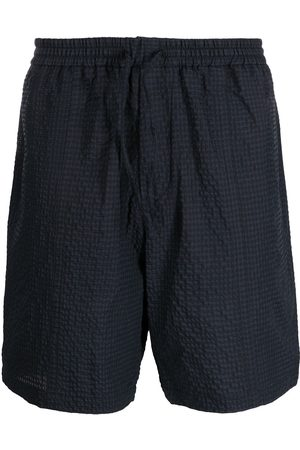 Emporio Armani Hombre Shorts - Check-pattern elasticated waist shorts