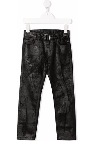 Givenchy Kids Coated-finish straight-leg trousers