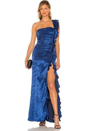 MAJORELLE Vestido largo angelita en color azul talla L en - Blue. Talla L (también en M, S, XL, XS, XXS).