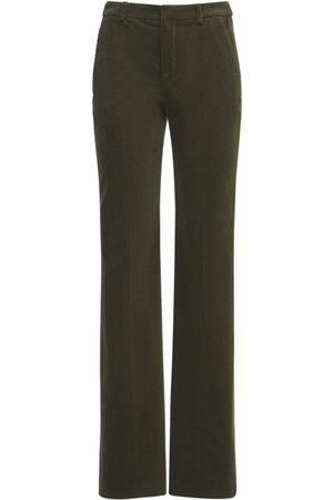 SAINT LAURENT Pantalones De Terciopelo Con Pierna Ancha