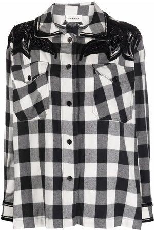 P.A.R.O.S.H. Mujer Camisas - Camisa con detalles de lentejuelas