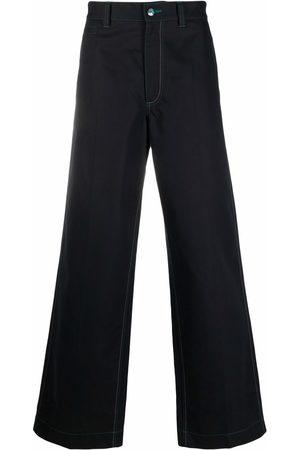Marni Hombre Anchos y de harem - Pantalones anchos con costuras en contraste