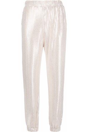 Pinko Mujer Pantalones y Leggings - Pantalones con detalles de lentejuelas
