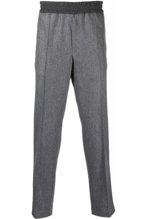 Moncler Pantalones de franela con cinturilla elástica