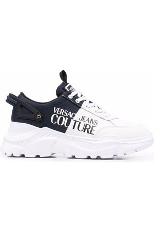 Versace Jeans Couture Hombre Tenis - Panelled logo-print sneakers