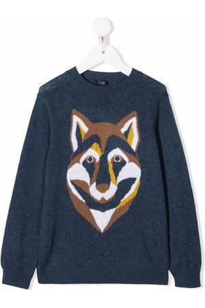 Il Gufo Knitted-wolf wool jumper